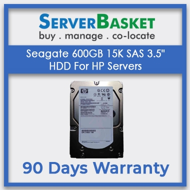 Seagate 600GB 15K SAS 3.5 HDD For HP Servers, Seagate 600GB SAS Hard Drive, HP 600GB Hard Drive for HP Servers
