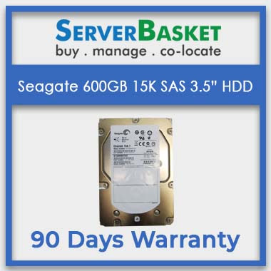 Buy Seagate 600GB 15K SAS 3.5 HDD From Online At Server Basket | Get Seagate 600GB SAS HDD for Your Dell Servers | 90 Days Warranty