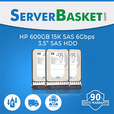 "HP 600GB SAS 15K RPM 6Gb 3.5"" HDD"