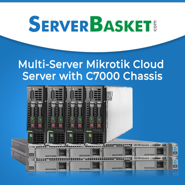 Multi-Server Mikrotik Cloud Server with the HP C7000 Blade System